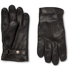 Hestra Shearling-Lined Leather Gloves