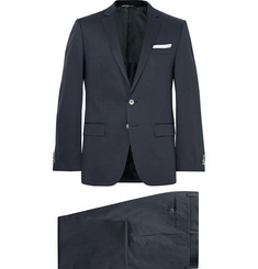 Hugo Boss Blue Hutson Gander Slim-Fit Stretch-Cotton Suit