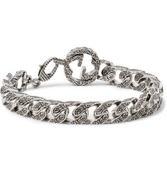 Gucci Rhodium-Plated Chain Bracelet