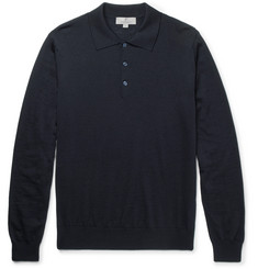 Canali Slim-Fit Merino Wool Polo Shirt