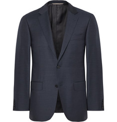 Canali Storm-Blue Slim-Fit Wool Blazer