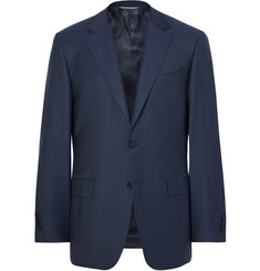 Canali Storm-Blue Slim-Fit Water-Resistant Super 130s Wool Suit Jacket