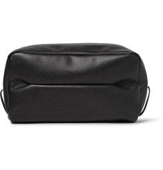 Valextra - Large Pebble-Grain Leather Wash Bag