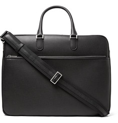 Valextra Soft Avietta Pilotina Pebble-Grain Leather Briefcase