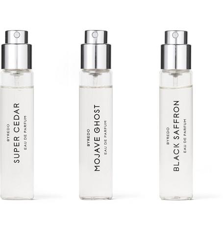 La Sélection Boisée Eau De Parfum Set   Mojave Ghost, Super Cedar & Black Saffron, 3 X 12ml by Byredo