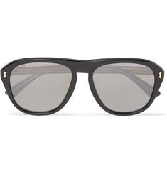 Gucci Aviator-Style Acetate Mirrored Sunglasses