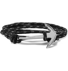 Miansai Anchor Cord Silver-Plated Wrap Bracelet