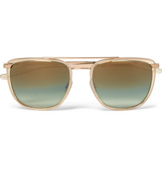 Barton Perreira - Lafayette Aviator-Style Acetate and Gold-Tone Sunglasses