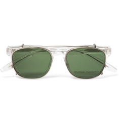 Barton Perreira Byron D-Frame Acetate Optical Glasses with Clip-On UV Lenses