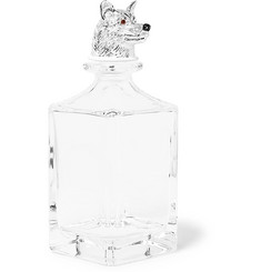 Deakin & Francis + Dartington Fox Crystal Enamelled Silver-Plated Decanter