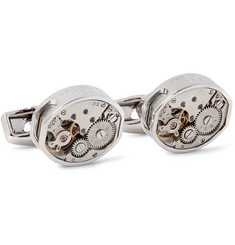 TATEOSSIAN - Skeleton Vintage Window Rhodium-Plated Cufflinks
