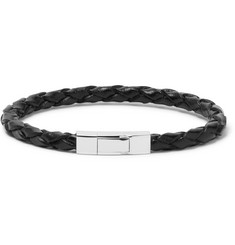 TATEOSSIAN Woven Leather Sterling Silver Bracelet