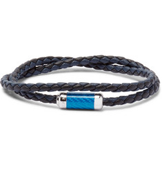 TATEOSSIAN - Monte Carlo Woven Leather Sterling Silver Bracelet