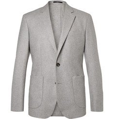 Hardy Amies - Grey Slim-Fit Unstructured Cashmere Blazer
