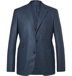 Hardy Amies - Navy Slim-Fit Unstructured Cashmere Blazer