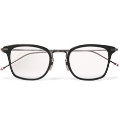 Thom Browne Square-Frame Acetate and Gunmetal-Tone Optical Glasses