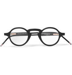 Thom Browne Round-Frame Matte-Acetate Optical Glasses