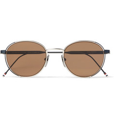 Thom Browne - Round-Frame Silver-Tone Sunglasses