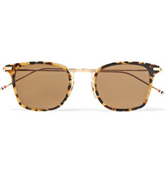 Thom Browne - Square-Frame Acetate and Gold-Tone Sunglasses