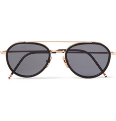 Thom Browne Aviator-Style Acetate and Gold-Tone Sunglasses