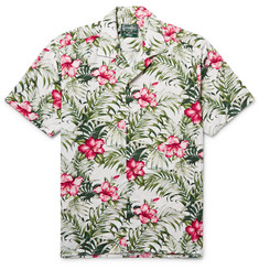 Gitman Vintage - Camp-Collar Floral-Print Cotton-Blend Shirt