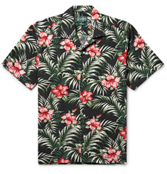 Gitman Vintage Camp-Collar Floral-Print Cotton-Blend Shirt