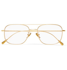 Cutler and Gross - Square-Frame Aviator-Style Gold-Tone Optical Glasses