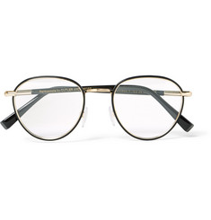 Cutler and Gross Round-Frame Acetate and Gold-Tone Optical Glasses