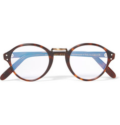 Cutler and Gross Round-Frame Acetate and Burnished Gold-Tone Optical Glasses