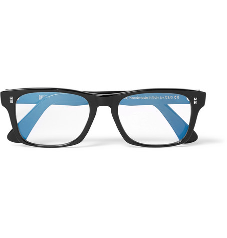 cutler and gross male cutler and gross squareframe acetate optical glasses black