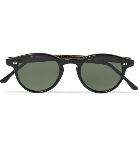Cutler And Gross Round-Frame Acetate Sunglasses In Black