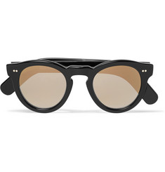Cutler and Gross Round-Frame Acetate Mirrored Sunglasses