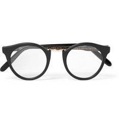 Cutler and Gross Round-Frame Acetate and Silver-Tone Optical Glasses