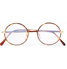Cutler and Gross - Round-Frame Tortoiseshell Acetate and Gold-Tone Optical Glasses