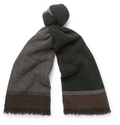 Begg & Co - Colour-Block Wool and Cashmere-Blend Scarf