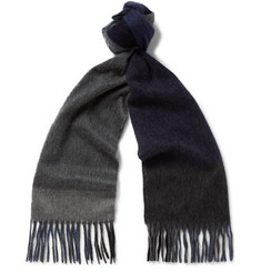 Begg & Co Fringed Checked Cashmere Scarf