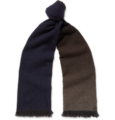 Begg & Co - Fringed Dégradé Cashmere Scarf