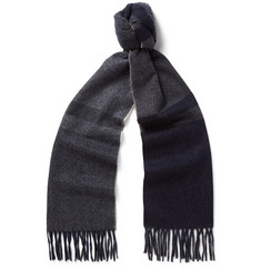 Begg & Co - Vigo Checked Wool and Cashmere-Blend Scarf