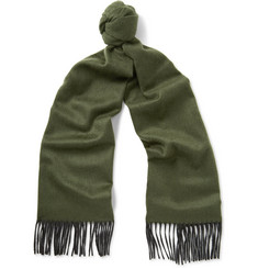 Begg & Co - Arran Fringed Two-Tone Cashmere Scarf