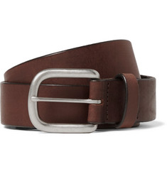 J.Crew - 3.5cm Brown Auster Arrowhead Leather Belt