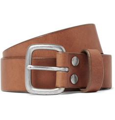 J.Crew 3cm Brown Brody Leather Belt