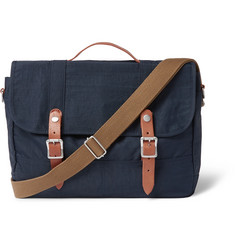 J.Crew Harwick Leather-Trimmed Canvas Messenger Bag