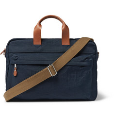 J.Crew Harwick Leather-Trimmed Canvas Briefcase
