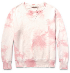 Remi Relief Distressed Tie-Dyed Loopback Cotton-Jersey Sweatshirt