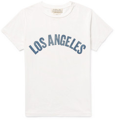 Remi Relief Los Angeles Flocked Cotton-Jersey T-Shirt