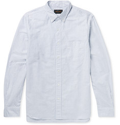 Beams Plus Button-Down Collar Striped Cotton Shirt