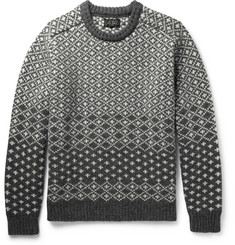 Beams Plus Jacquard-Knit Shetland Wool Sweater