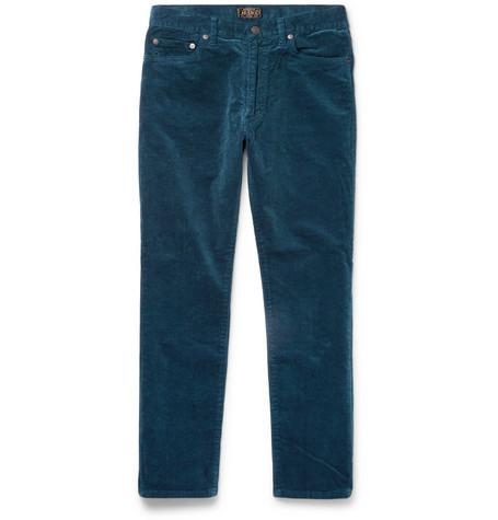 06c7b859ce6 Beams Slim-Fit Cotton-Blend Corduroy Trousers In Petrol