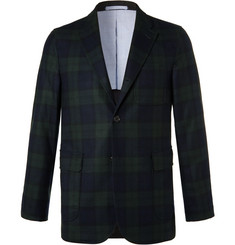 Beams Plus Navy Slim-Fit Black Watch Checked Wool-Blend Blazer