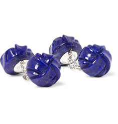 Trianon - 18-Karat White Gold Lapis Cufflinks
